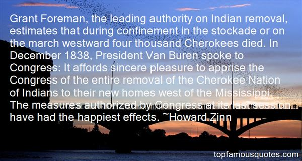 Quotes About Cherokee Removal