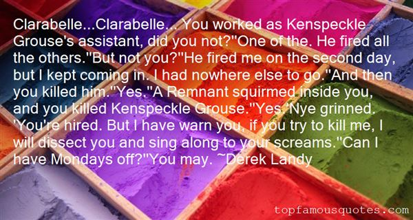 Quotes About Clarabelle