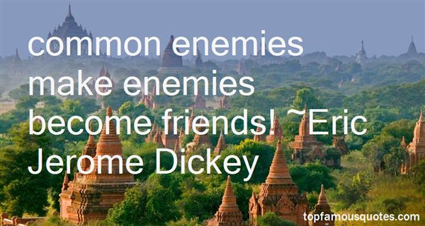 Quotes About Common Enemies