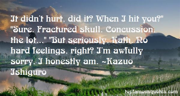 Quotes About Concussion
