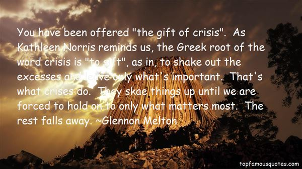 Quotes About Crises
