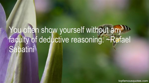 Quotes About Deductive Reasoning