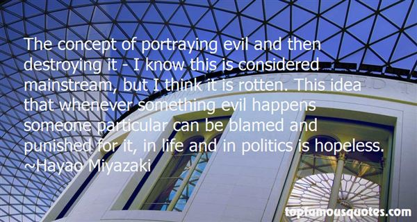 Quotes About Destroying Evil