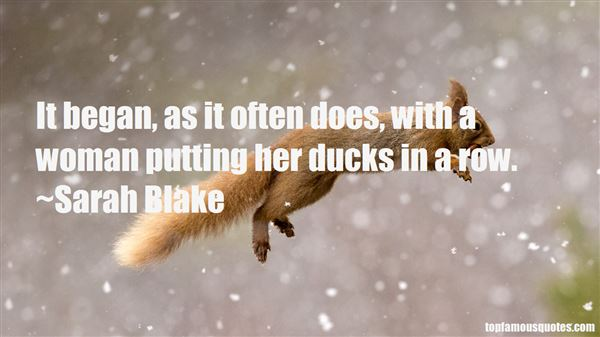 Quotes About Ducks In A Row
