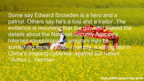 Quotes About Edward Snowden