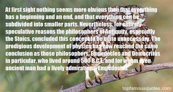 Quotes About Empedocles