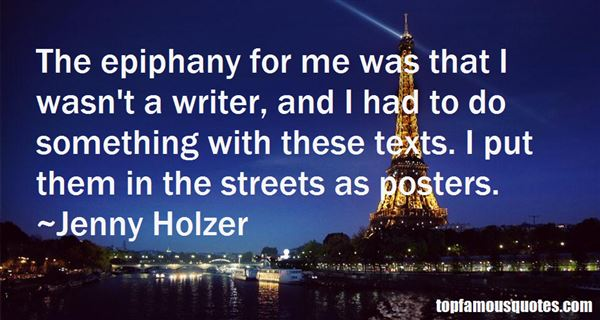 Quotes About Epiphany