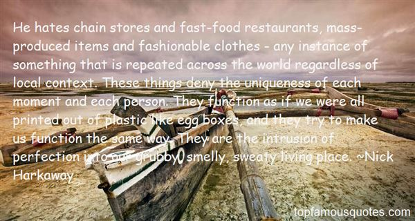 Quotes About Fast Food Restaurants