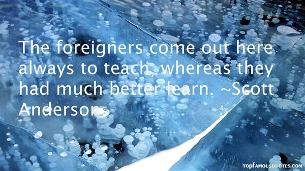 Quotes About Foreigners