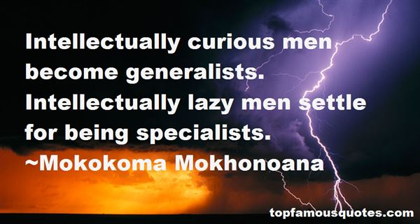 Quotes About Generalists