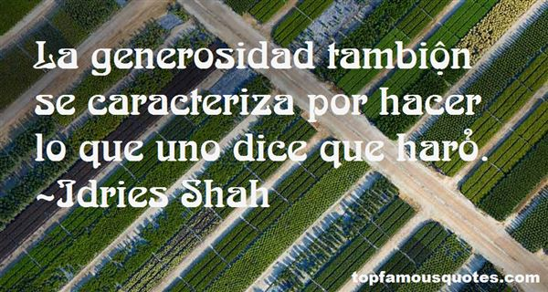 Quotes About Generosidad