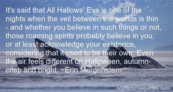 Quotes About Hallows Eve