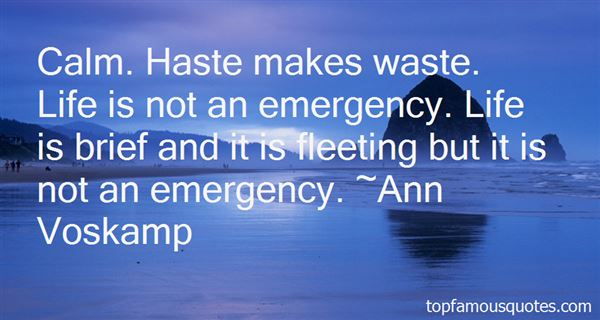 Quotes About Haste Makes Waste