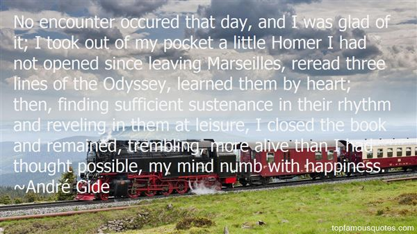 Quotes About Homer Odyssey