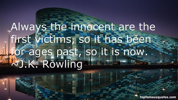 Quotes About Innocent Victims