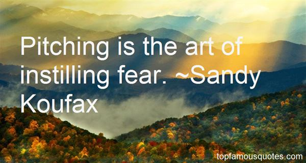 Quotes About Instilling Fear