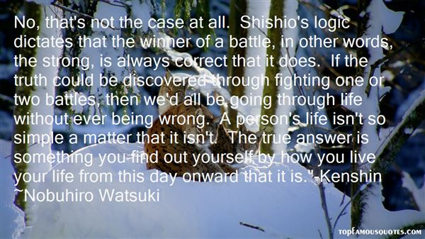 Quotes About Kenshin