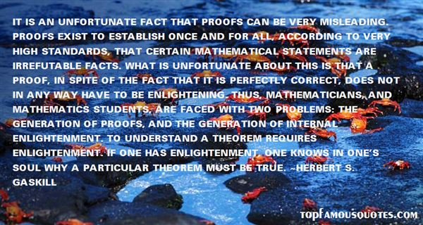 Quotes About Mathematical Proof