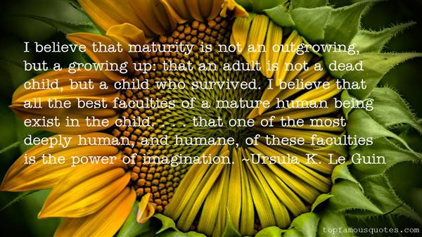 Quotes About Maturity Growing Up
