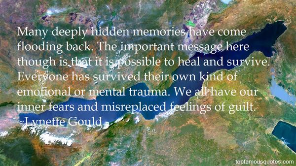 Quotes About Memories Flooding Back