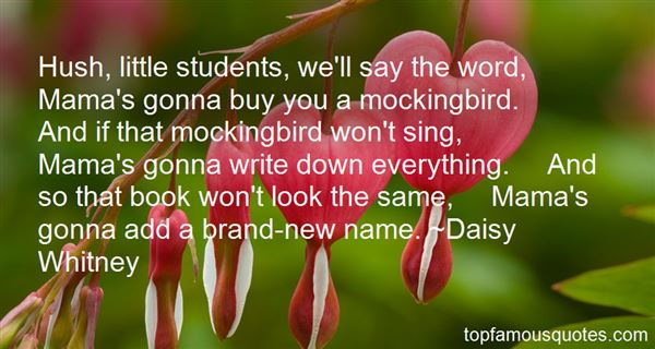 Quotes About Mockingbird
