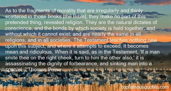 Quotes About Morality In The Bible