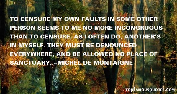 Quotes About My Faults