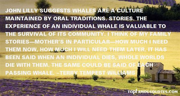 Quotes About Oral Tradition