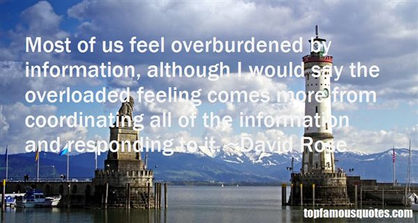 Quotes About Overloaded