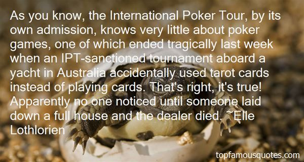 Quotes About Playing Cards Right