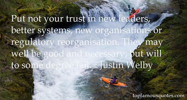 Quotes About Reorganisation