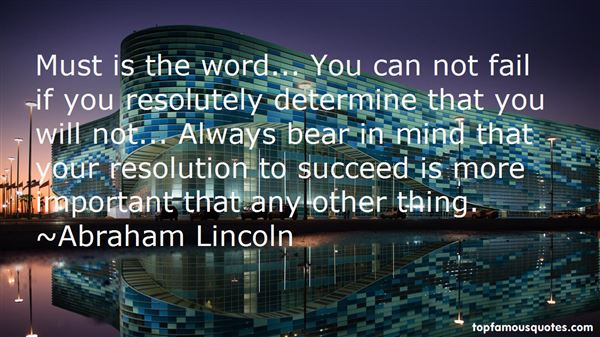 Quotes About Resolute