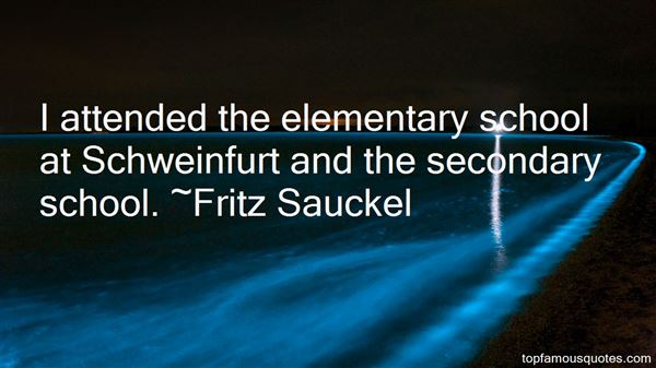 Quotes About Secondary School