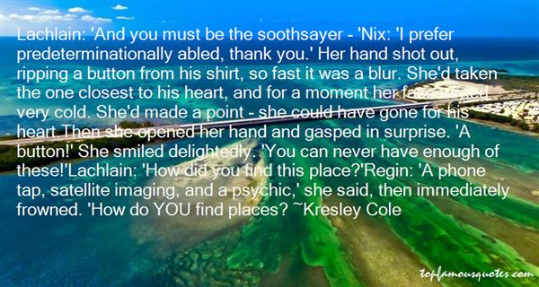 Quotes About Soothsay