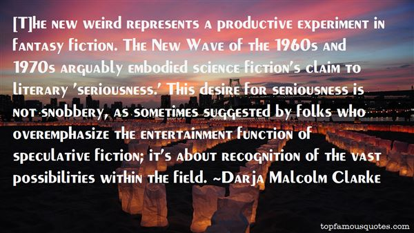 Quotes About Speculative Fiction