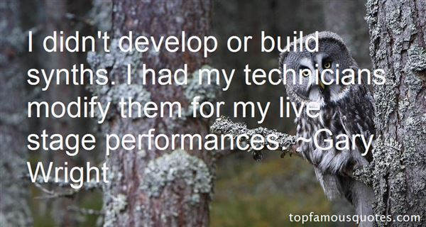 Quotes About Stage Performance