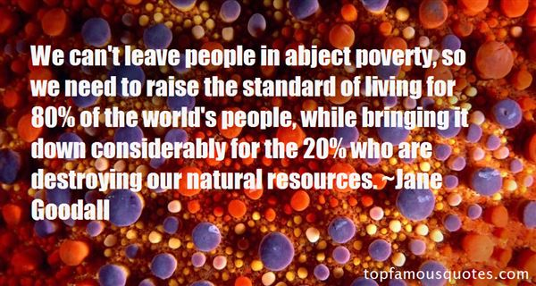 Quotes About Standard Of Living