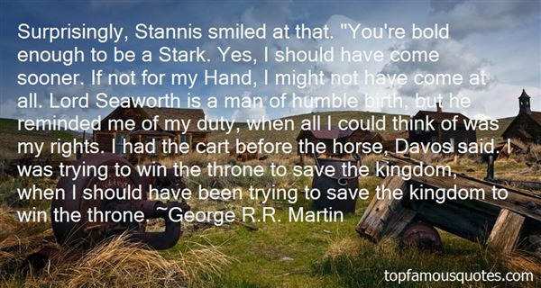 Quotes About Stannis