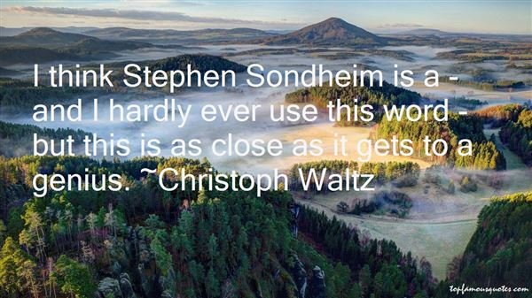 Quotes About Stephen Sondheim