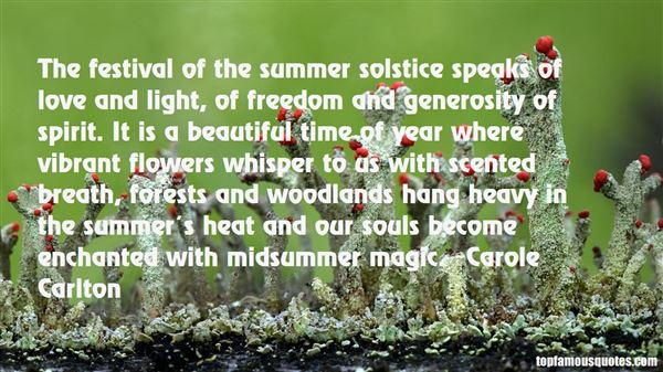Summer Solstice Quotes: best 6 famous quotes about Summer ...