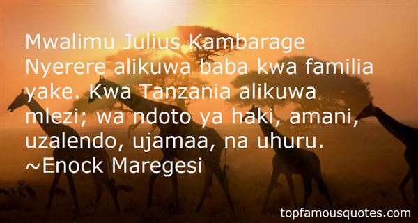 Quotes About Tanzania