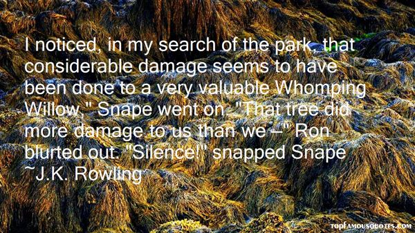 Quotes About The Whomping Willow