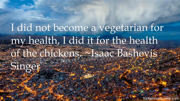Quotes About Vegetarian Health