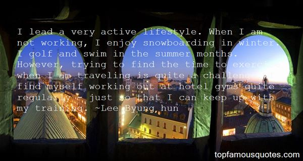 Quotes About Active Lifestyle