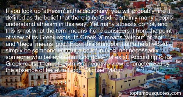 Quotes About Atheism Negative