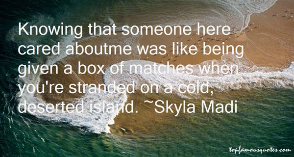 Quotes About Being Stranded On A Desert Island