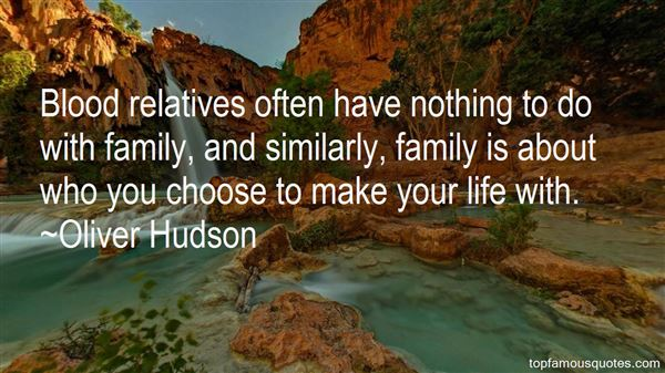 Quotes About Blood Family