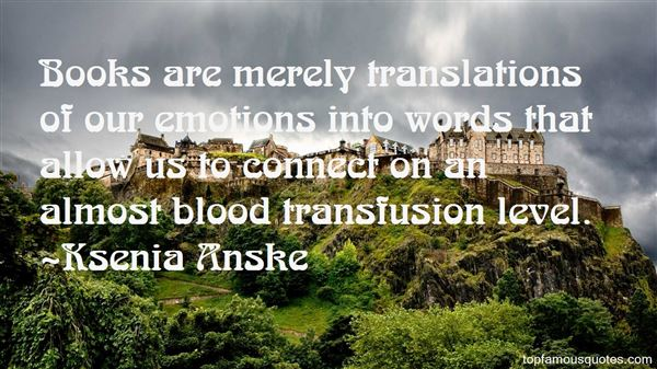 Quotes About Blood Transfusion