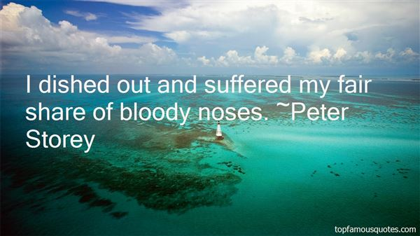 Quotes About Bloody Noses