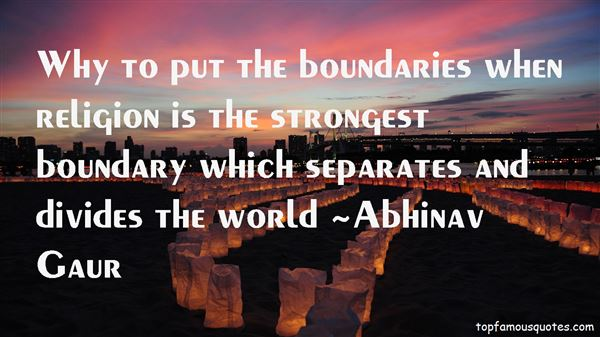 Quotes About Boundary